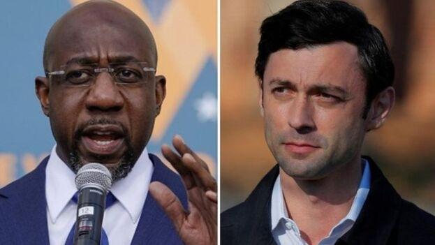 Raphael Warnock y Jon Ossoff serán los dos nuevos senadores de Georgia.