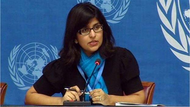 """Ravina Shamdasani mostró la preocupación de la ONU """"sobre la represión ejercida contra defensores de derechos humanos en Cuba"""". (ONU)"""