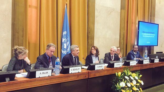 Mark Lowcock ha presentado en una conferencia el Plan Regional de Respuesta para Refugiados y Migrantes. (UNHCR)