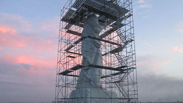 Reparan el Cristo de La Habana tras una descarga eléctrica. (14ymedio)