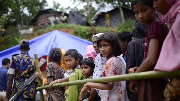 """Representantes de Naciones Unidas han calificado la persecución contra los rohinyás en Birmania de limpieza étnica con """"marcas de genocidio"""". (EFE)"""
