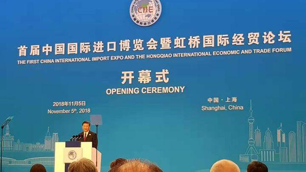 En la inauguración de la exposición se encontraban los presidentes de Panamá, República Dominicana y El Salvador como parte de la representación latinoamericana. (International Import Expo Shanghai)