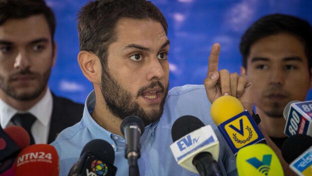 El diputado venezolano Juan Requesens, el opositor al Gobierno de Nicolás Maduro que lleva más tiempo en prisión. (EFE/Miguel Gutiérrez)