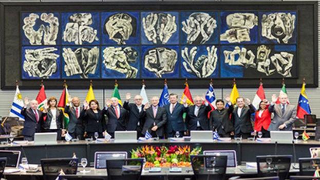 Reunión de Unasur en Quito el pasado 14 de marzo. (ALBA)