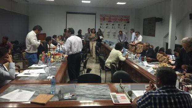 Reunión de la delegación chilena en La Habana. (@ProChile)
