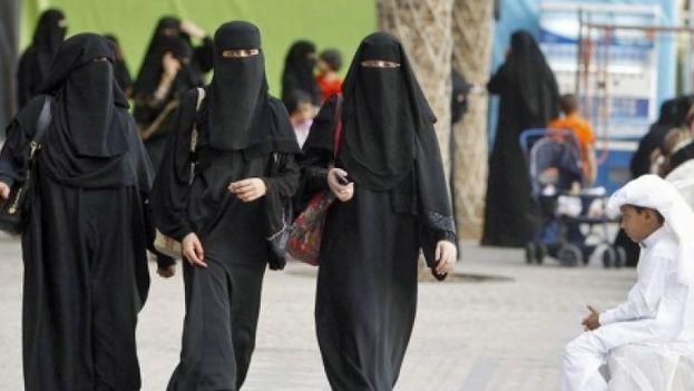 Un grupo de mujeres en Riad, Arabia Saudí (Foto EFE)