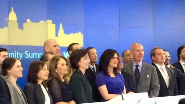 Roberta Jacobson durante la conferencia sobre las oportunidades de negocio que se abren para Cuba (Twitter)