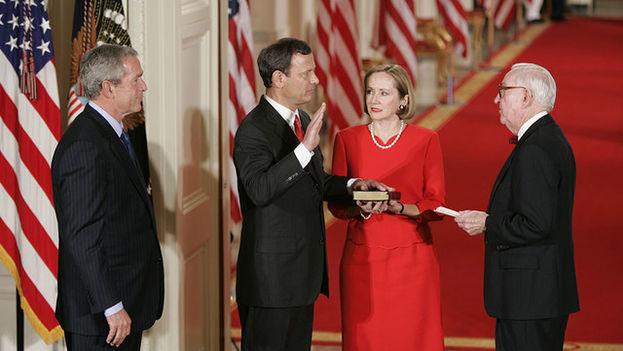 John Roberts, presidente del Supremo de EE UU, fue nombrado por el expresidente George W. Bush. (Picryl)