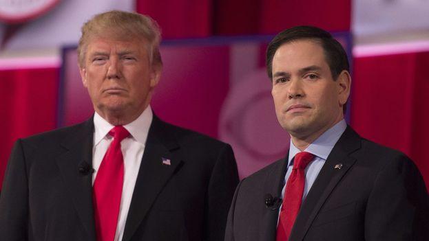 Marco Rubio y el actual presidente de Estados Unidos, Donald Trump en una imagen de archivo. (EFE)