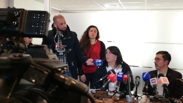 Rueda de prensa este lunes de la Conferencia Episcopal chilena para informar sobre los datos de la Fiscalía en los casos de abuso sexual. (@PrensaCECh)