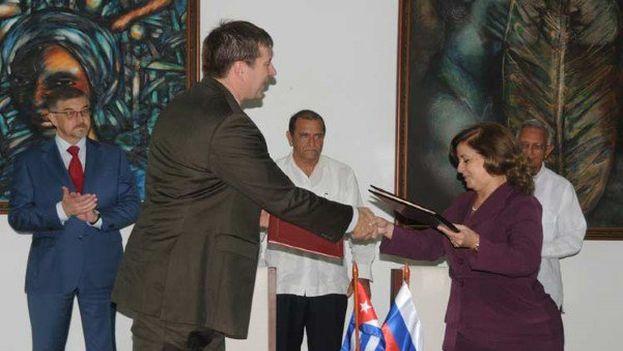 Rusia y Cuba firmaron el pasado 13 de diciembre otro acuerdo en materia de Justicia. (Archivo/Embajada Rusia)