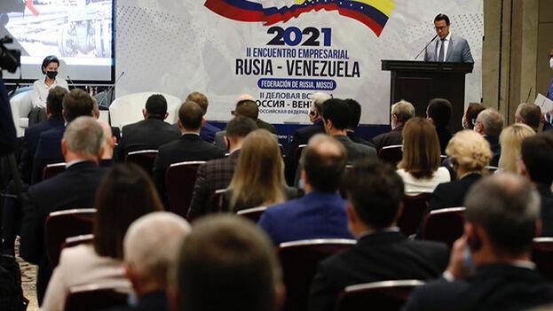 El encuentro empresarial Rusia-Venezuela se lleva a cabo de cara a la XV reunión de la Comisión Intergubernamental de Alto Nivel entre ambos países. (EFE)