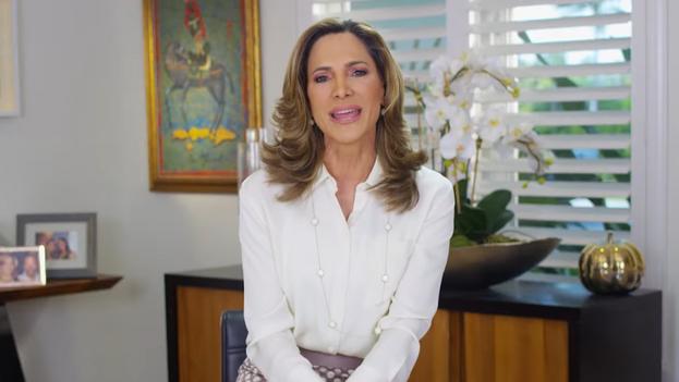 La periodista María Elvira Salazar, candidata republicana al Congreso de los EE UU. (Captura)