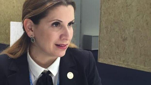 Claudia Salerno, la jefa de misión de Venezuela en Bruselas. (EFE / Caty Arévalo)
