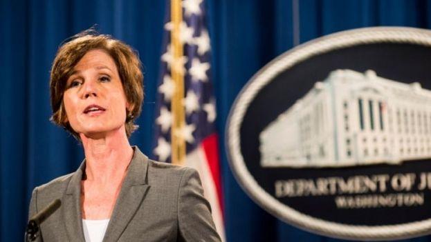 Sally Yates dijo no estar convencida de que la orden ejecutiva firmada el viernes por Trump sea legal. (EFE)
