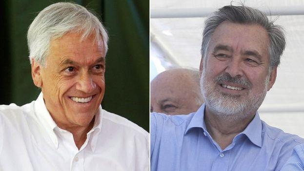 En la primera ronda electoral en Chile Sebastián Piñera obtuvo el 36,66 % de los votos y Alejandro Guillier el 22,68 %. (EFE)