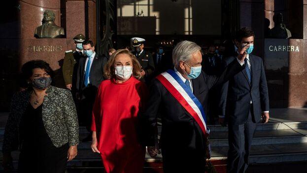Sebastián Piñera ofreció este martes su última rendición de cuentas ante el Congreso. (EFE)