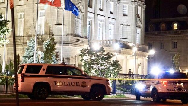 Sede de la embajada de Cuba en Washington atacada esta madrugada.