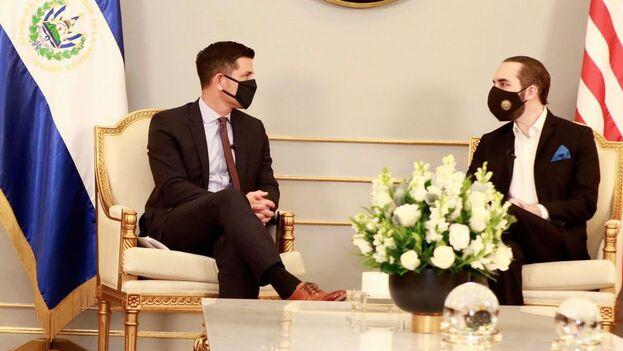 La noticia se dio a conocer en momentos en que el secretario interino de Seguridad Nacional de Estados Unidos, Chad F. Wolf, se reunía en privado en San Salvador con el presidente Nayib Bukele. (EFE)