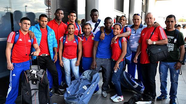 Parte de la Selección Cubana de Lucha en una gira por Honduras a principios del 2014 (Foto: Diario Más)