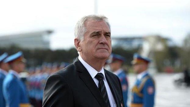 El presidente de Serbia, Tomislav Nikolic, llegó a Cuba este lunes 18 de mayo. (@predsednikrs)