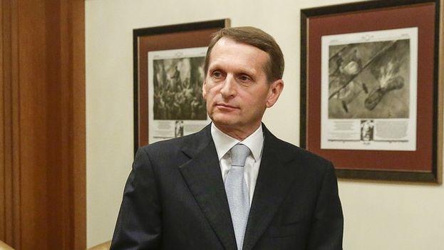 Serguei Naryshkin, presidente de la Duma rusa (Foto Flickr)