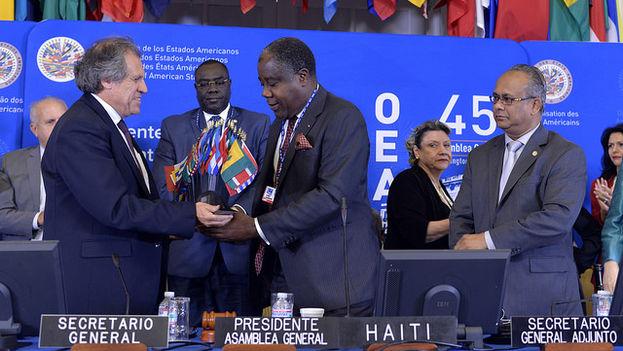 Sesión de clausura de la 45 Asamblea General de la OEA. (OEA)