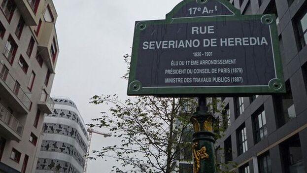 La calle Severiano de Heredia en París, inaugurada en 2015. (Archivo)