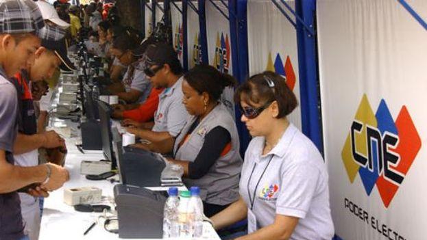 Simulacro electoral en Venezuela