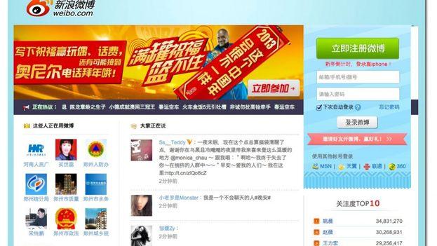 Sina Weibo está considerado como la versión china de Twitter. (captura)