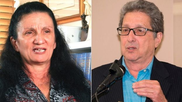 Los opositores cubanos Sirley Ávila León y Pedro Corzo en imágenes de archivo. (DA)