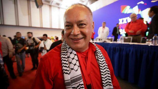 El primer vicepresidente del gobernante Partido Socialista Unido de Venezuela y principal promotor del evento, Diosdado Cabello, participa del acto de instalación de la XXV edición del Foro de Sao Paulo. (EFE)