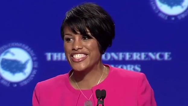 Stephanie Rawlings-Blake, presidenta de la Conferencia y alcaldesa de Baltimore (Maryland). (Twitter)