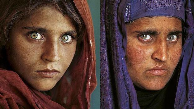La niña afgana fue inmortalizada por el fotógrafo estadounidense Steve McCurry en 1984 en un campo de refugiados de la ciudad de Peshawar. (National Geographic)