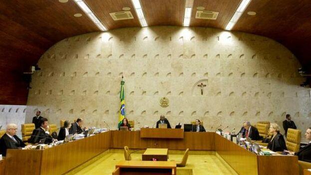 La decisión del Supremo fue retransmitida por televisión y muy seguida en Brasil. (EFE)