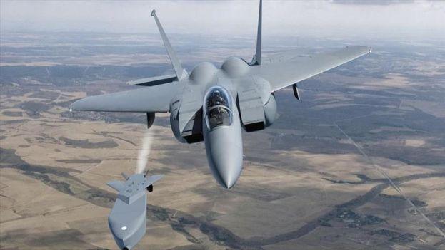 El ejercicio tuvo lugar el martes en Taean, a unos 150 kilómetros al sudoeste de Seúl, desde cuyo espacio aéreo un caza F-15K disparó un misil Taurus. (HispanTV)