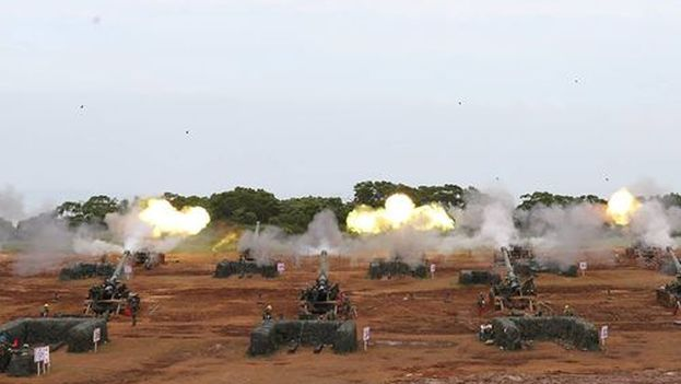 Los ejercicios de defensa cibernética forman parte de las maniobras militares 'Han Kuang', celebradas cada año para prevenir una invasión china. (Military News Agency)