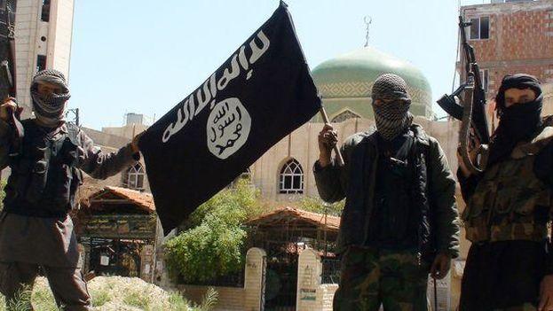 Terroristas del Estado Islámico en Siria. (EFE)