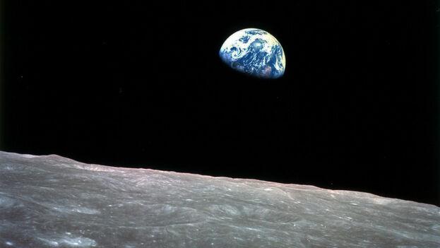La fotografía de la Tierra tomada por William Anders desde el Apolo 8 en 1968. (William A. Anders/NASA)