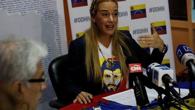 Tintori sostiene que el dinero en efectivo que guardaba asciende a 10.00 dólares pero ocupa mucho espacio debido a la inflación en Venezuela. (Lilian Tintori)