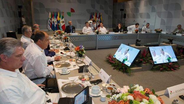 Trabajos de la XXIV Cumbre Iberoamericana de Veracruz. (TWITTER)