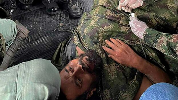 Traslado del jefe del Frente Occidental de Guerra del ELN. (Policía Nacional de Colombia)