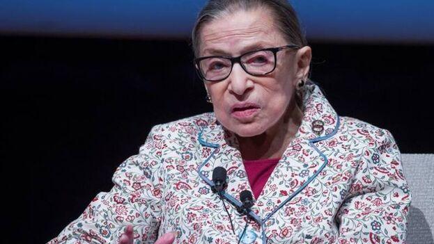 La jueza del Tribunal Supremo de EE UU Ruth Bader Ginsburg, fallecida este viernes a los 87 años. (EFE/Tannen Maury/Archivo)