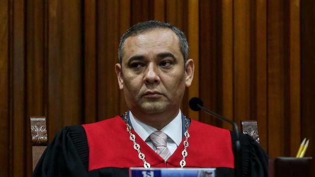 El presidente del Tribunal Supremo de Justicia de Venezuela (TSJ), el magistrado Maickel Moreno. (EFE)