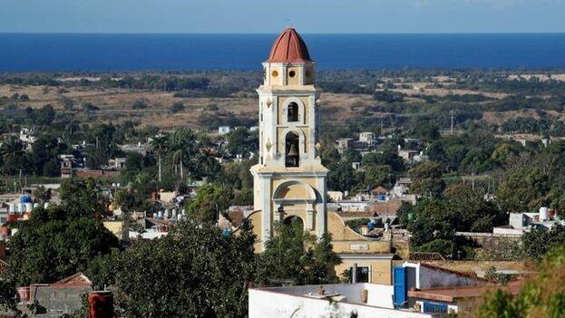 La ciudad de Trinidad y su campanario, en Sancti Spíritus, está siendo promocionada especialmente por el Gobierno con fines turísticos. EFE