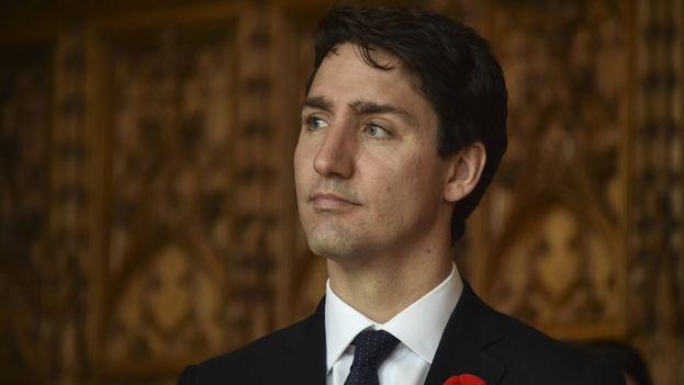 El primer ministro de Canadá, Justin Trudeau ofreció una conferencia de prensa al culminar la VIII Cumbre de las Américas en Lima. (EFE)