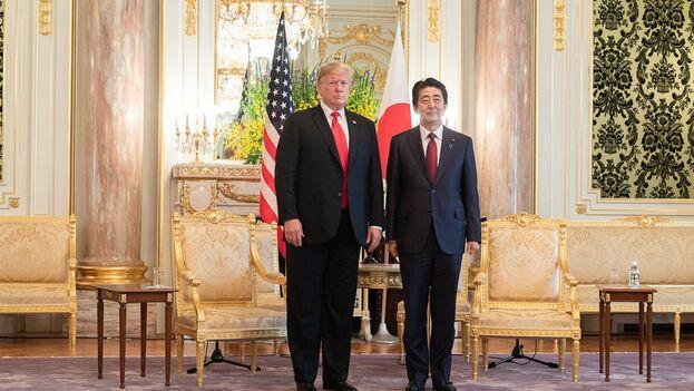 Trump con Abe durante la visita oficial del estadounidense a Japón. (realDonaldTrump)