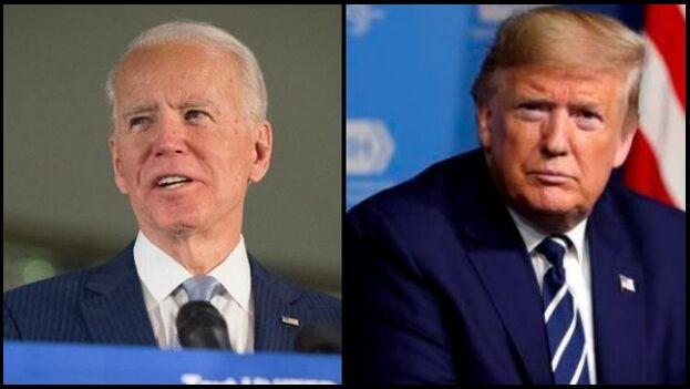 Trump se ha mudado oficialmente de New York a Florida y Biden está haciendo un gran esfuerzo por ganarle ese estado. (Collage/EFE)
