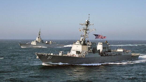 El buque 'USS Pinckney', que Venezuela denuncia incursionó en sus aguas. (CC)
