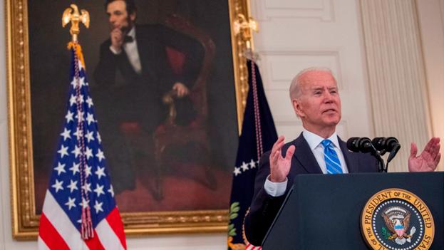 El presidente de Estados Unidos, Joe Biden, habla en conferencia de prensa en la Casa Blanca, en Washington, este 19 de julio de 2021. (EFE/EPA/SHAWN THEW)